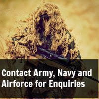 How Reach the Army, Navy and Airforce for Enquiries