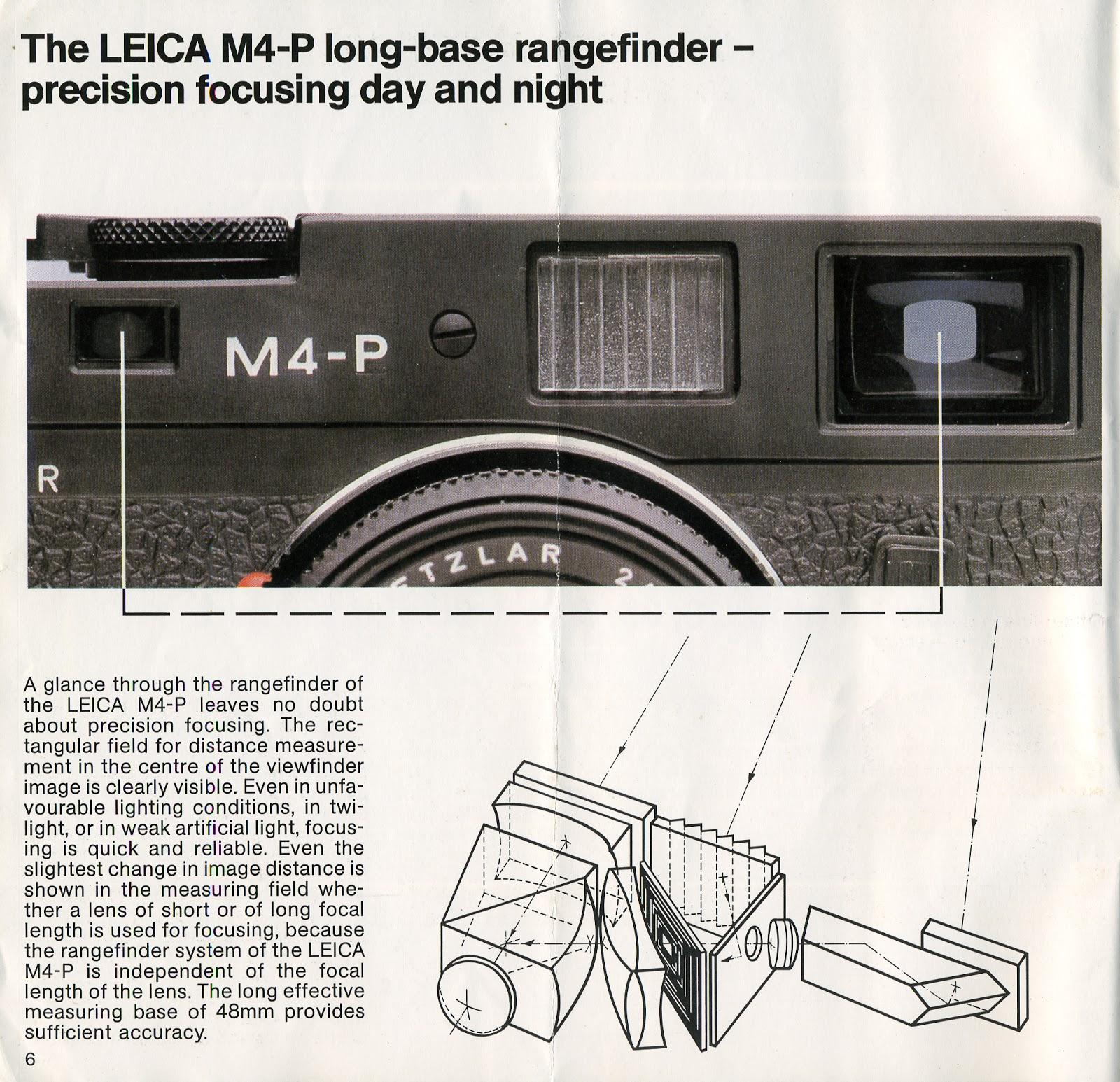Leica M4-P Brochure | The Online Darkroom