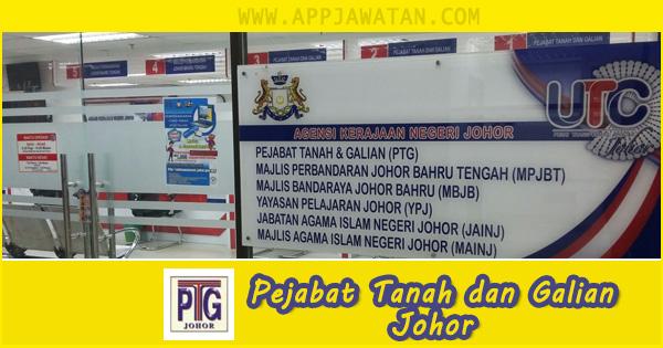 Jawatan Kosong di Pejabat Tanah dan Galian Johor - 25 Oktober 2018
