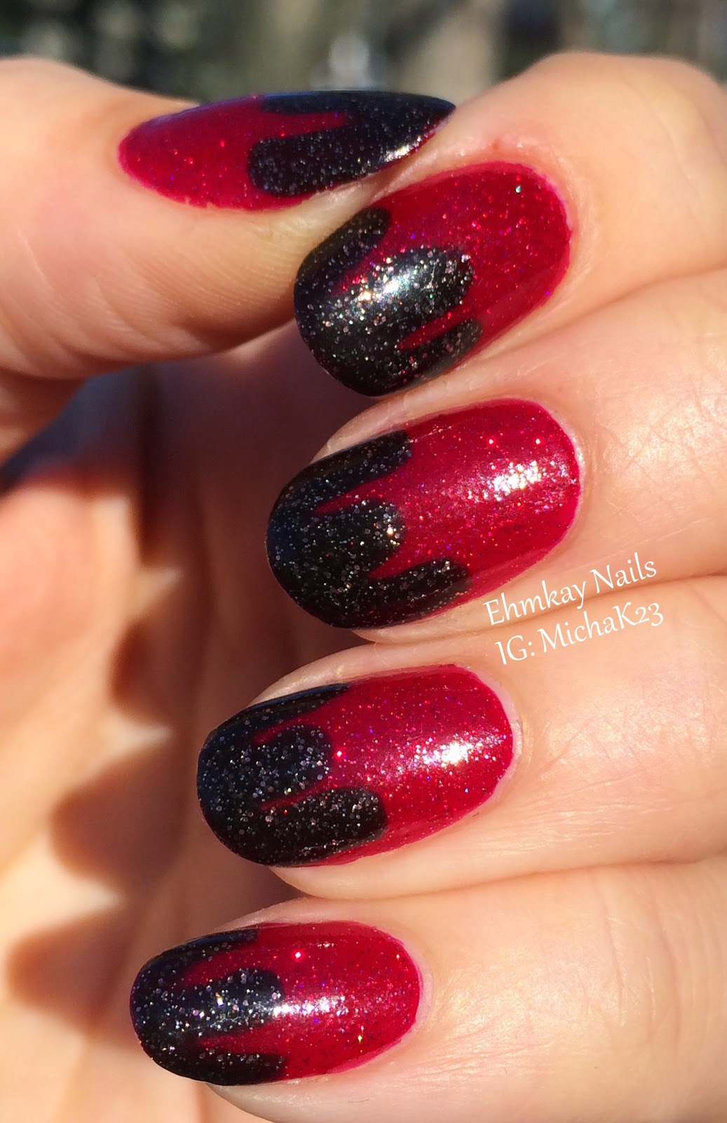 Ehmkay Nails: Chocolate Dipped Strawberries Nail Art With
