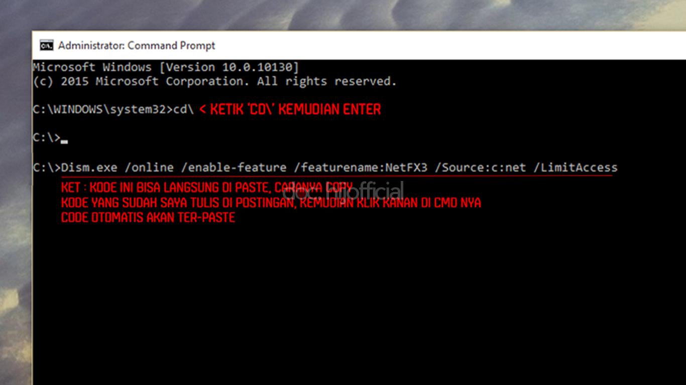 Cara Mudah Instalasi .NET Framework 3.5 Di Windows 10 (4)
