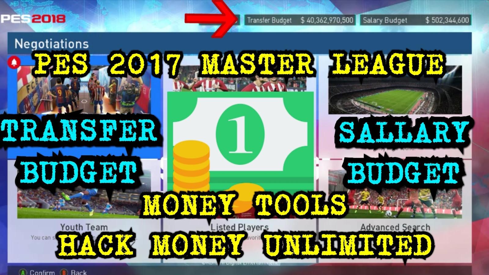 PES 2017 Master League Money Tools