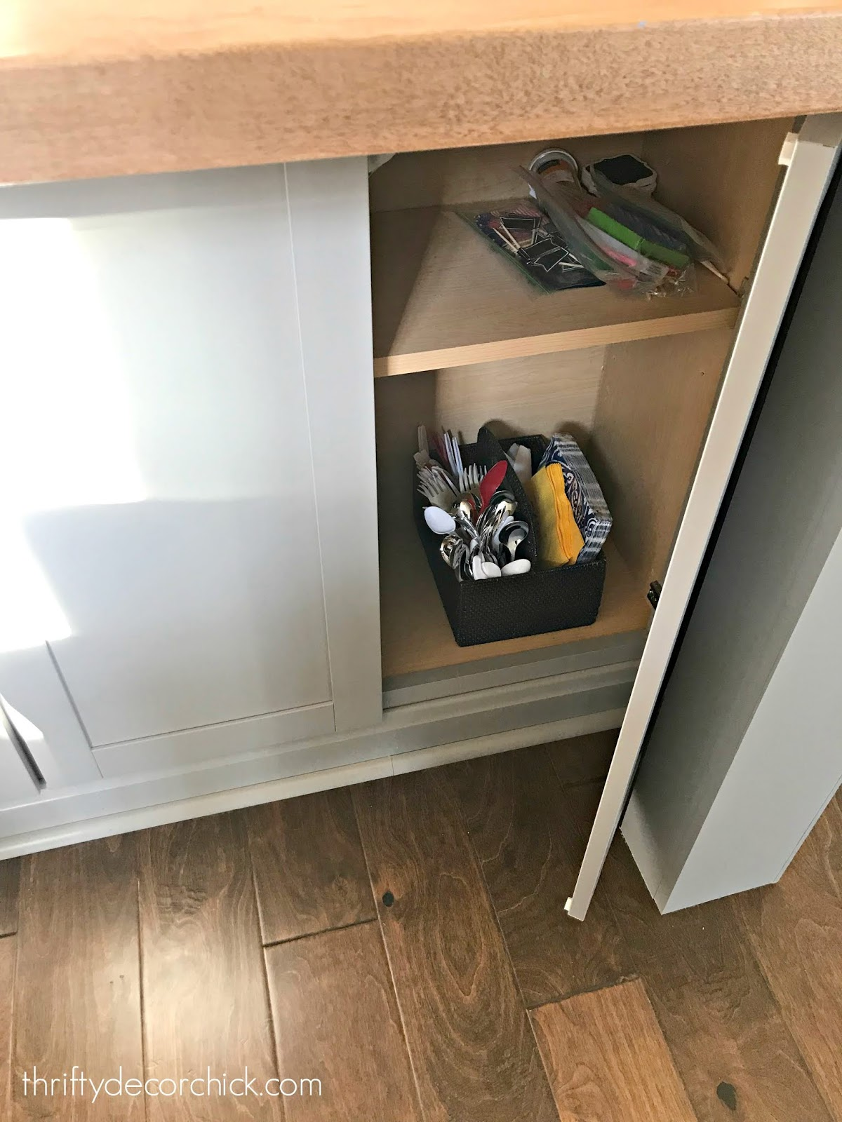 Adding legs to island with cabinets