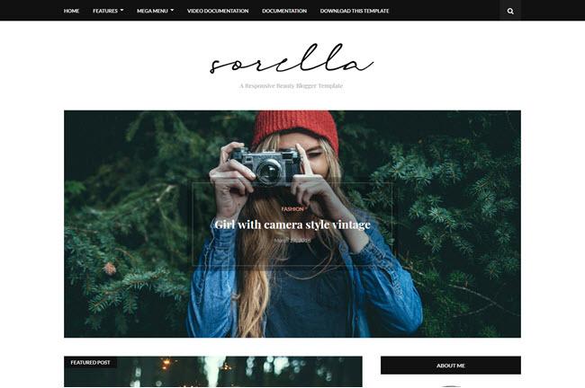 Sorella – Responsive Beauty Blogger Template