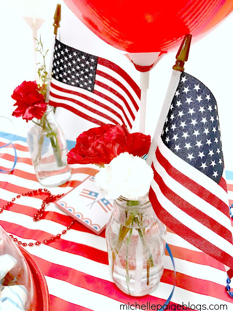 Simple ways to decorate using red, white and blue.