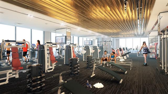 Phòng tập Gym hiện đại tại chung cư Helios Tower 75 Tam Trinh