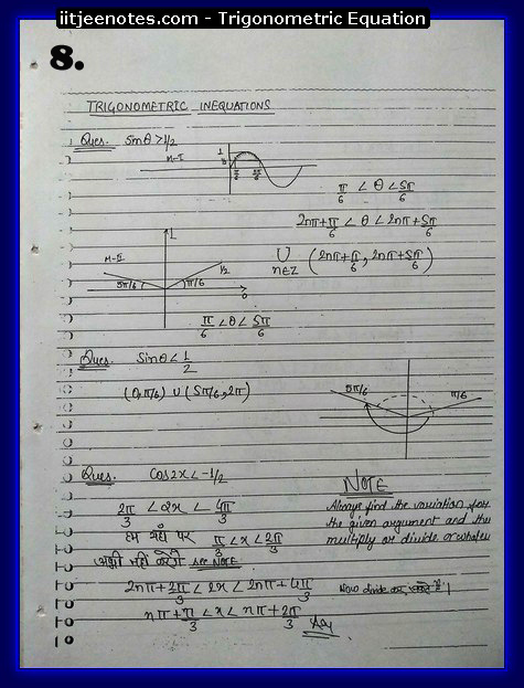 Trigonometric Equation Notes8