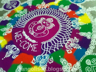 Rangoli Collection for Ganpati Festival