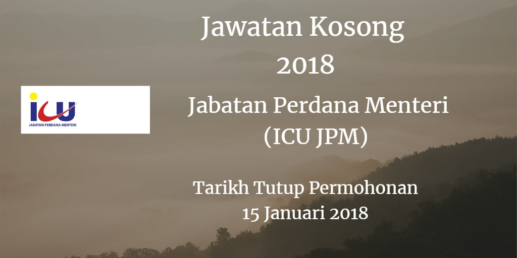 Jawatan Kosong ICU JPM 15 Januari 2018