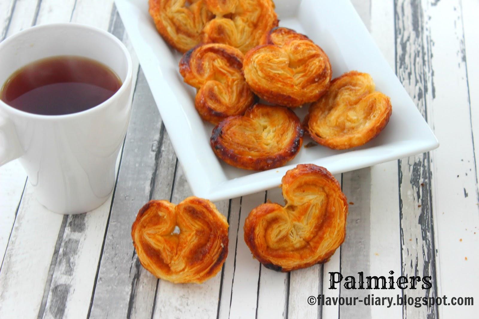 2 ingredients sweet palmiers