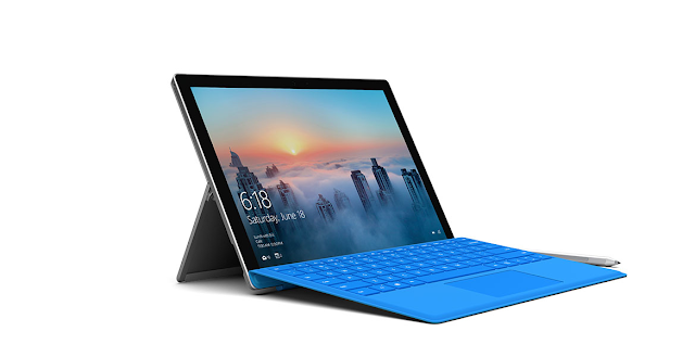 Microsoft Surface Pro 4 thin tablet and laptop