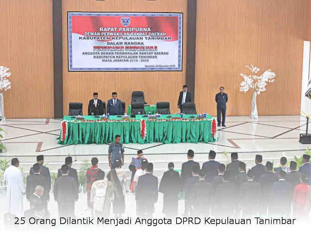 25 Orang Dilantik Menjadi Anggota DPRD Kepulauan Tanimbar