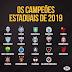 Confira quais são os campeões estaduais de 2019 pelo país