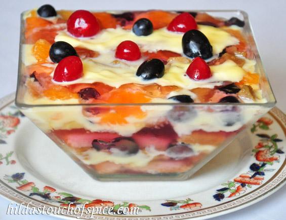 Fruit Cake Pudding Recipe