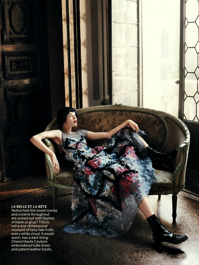 David Sims photography, vogue september issue editorial, cinderella story, grace coddington