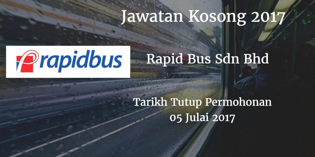 Jawatan Kosong Rapid Bus Sdn Bhd 05 Julai 2017