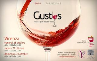 Gustus: il grande banco d'assaggio dei vini Colli Berici 28-29-30 Ottobre Vicenza