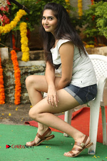 Actress Vyoma Nandi  Pictures in Shorts at Haritha Haram Event  0172.JPG