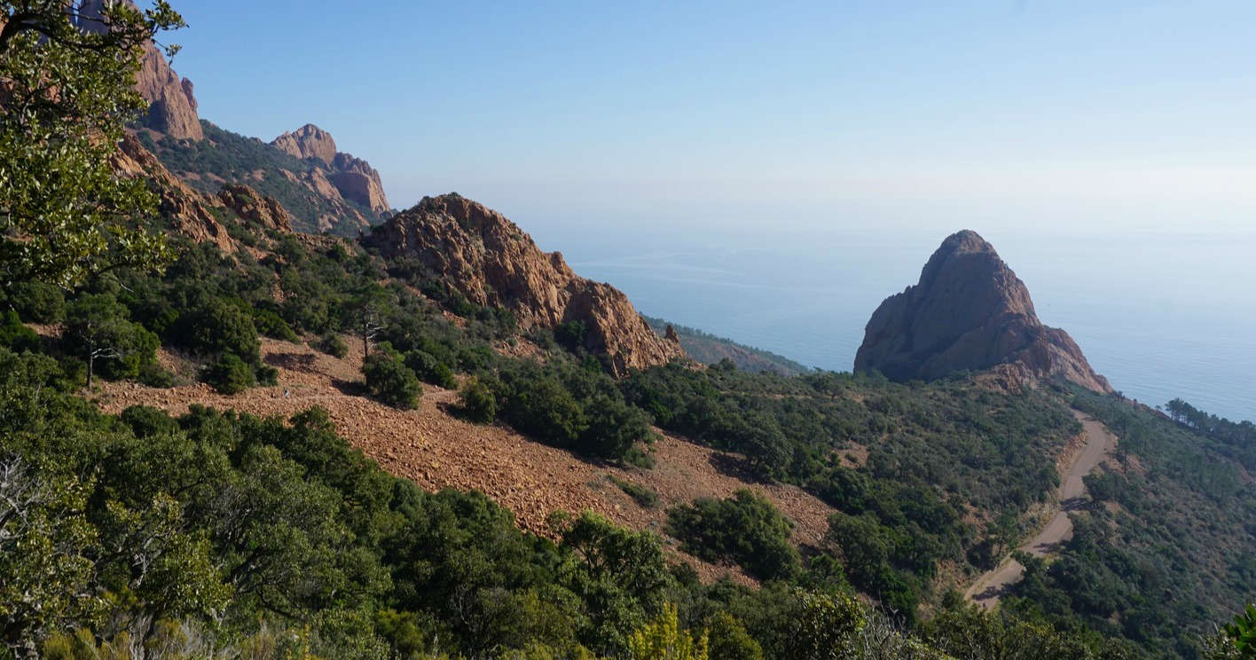 Red Esterel Massif cliffs