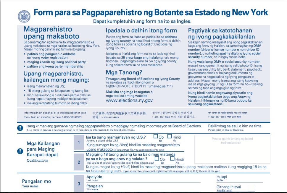 Balitang New York: Mayor de Blasio Expands Voter Registration ...