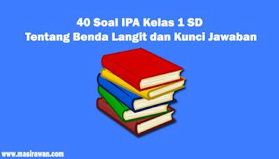 40 Soal IPA Kelas 1 SD Tentang Benda Langit dan Kunci Jawaban