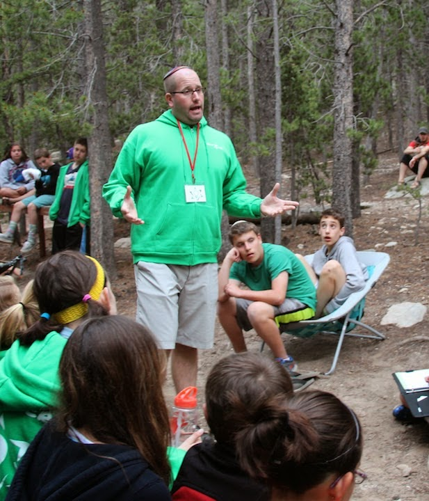Rabbi Jason Teaching at Camp Inc. in Rocky Mountains