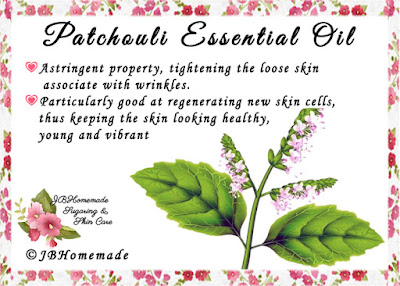 Patchouli ♦Astringent property, tightening the loose skin associate with wrinkles. ♦Particularly good at regenerating new skin cells, thus keeping the skin looking healthy, young and vibrant