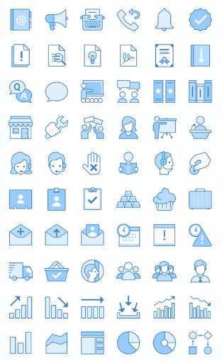 Top 60 Business Icons Free Download