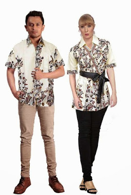 model baju batik couple pasangan modern