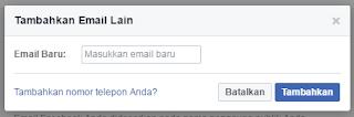 tampilan untuk mengamankan akun facebook dari phising