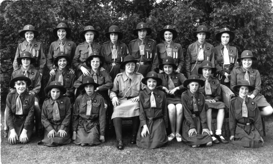 Photograph of North Mymms Guides at camp at Frowick House in 1936 - Image from J Knight