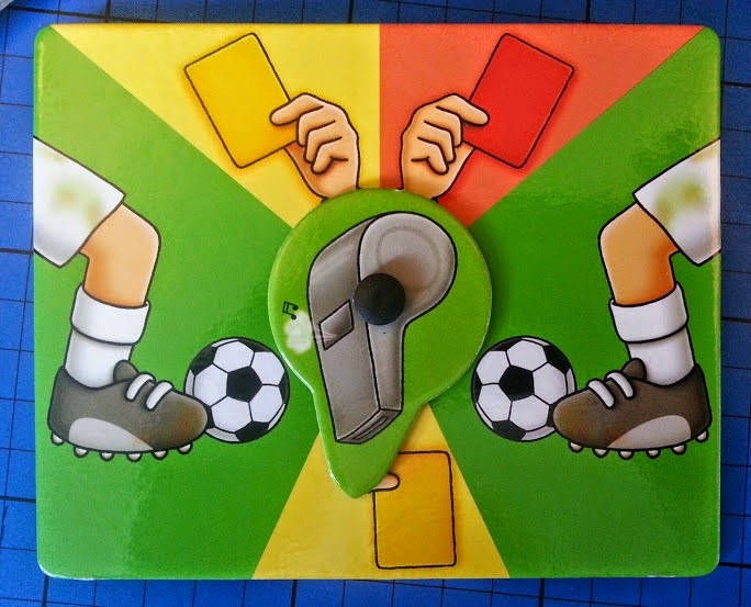 Orchard Toys Football Game for children aged 5+ red and yellow cards