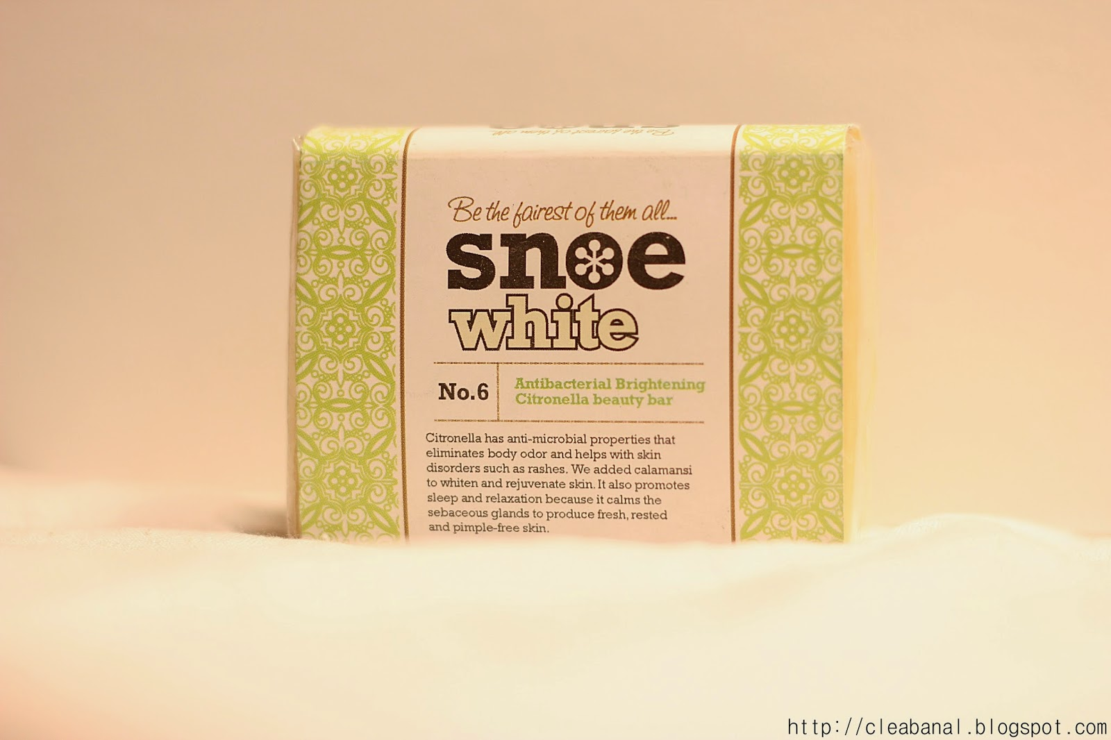 Snoe : #6 Antibacterial Brightening Citronella Beauty Bar Review