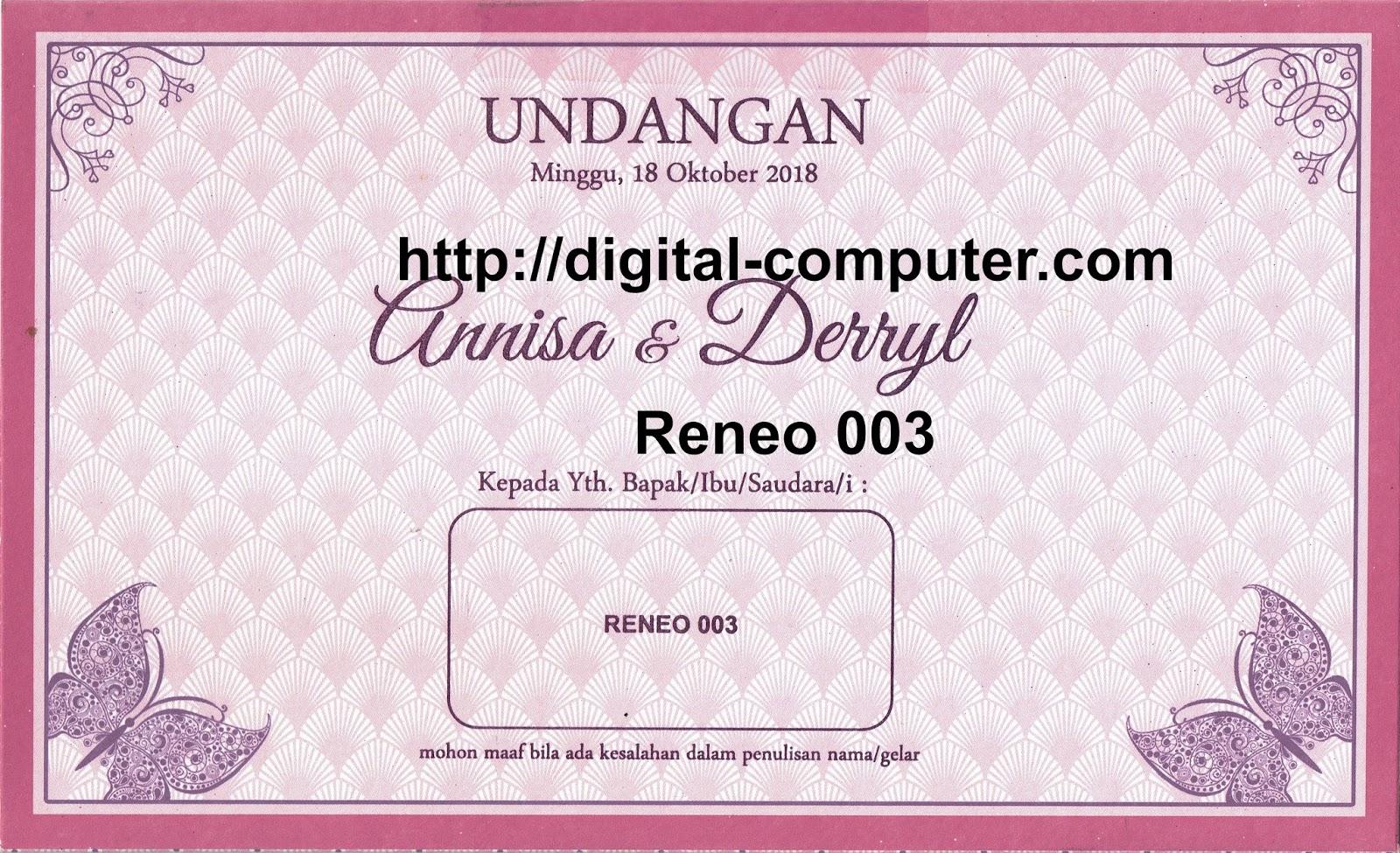 Undangan Softcover Reneo 003