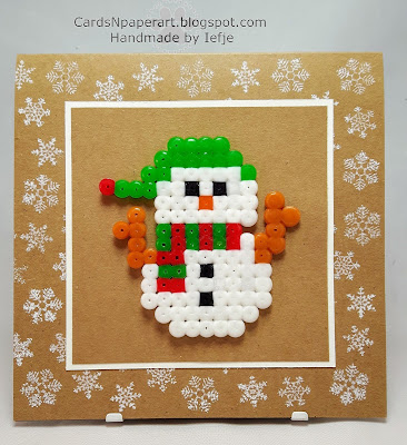 Christmas card with Perler Beads