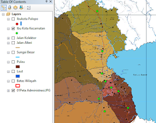 cara mudah melihat hasil digitasi peta ibukota kecamatan