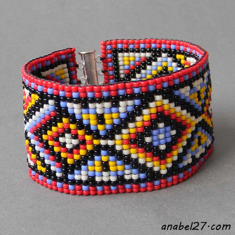 купить украшения из бисера браслеты hand made купить цена