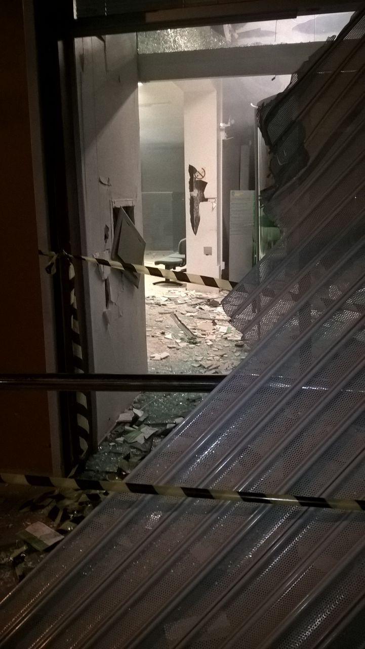 Banco foi atacado em Progresso. Foto: Divulgação BM