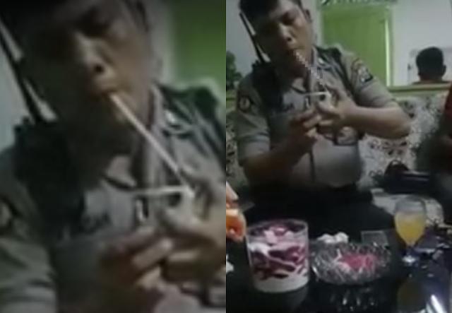 4 Fakta Viral, Oknum Polisi Pesta Sabu di Rumah Gembong Narkoba yang Bikin Geram