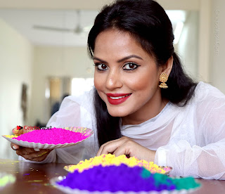 Bollywood Actress and Producer Neetu Chandra Special Po Shoot Gallery in a Dry Holi Celetion  0016.JPG