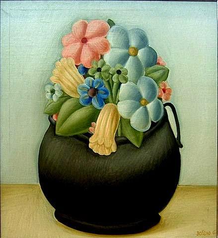 Flores - Fernando Botero e suas pinturas ~ O pintor das figuras volumosas