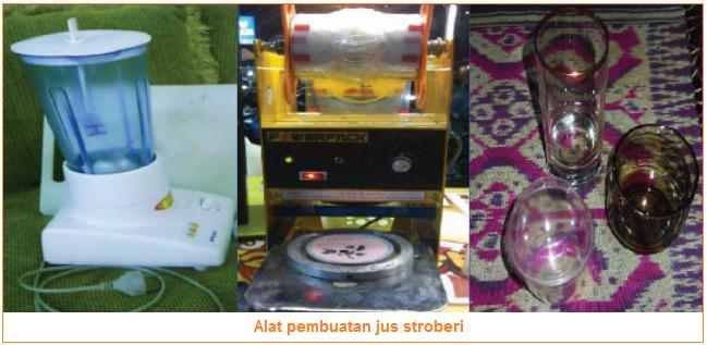 Alat-Alat Untuk Membuat Jus Stroberi