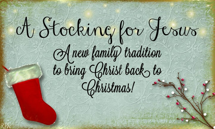 Celebrate Christmas with a Stocking for Jesus this year.  This is a great Christmas tradition to help you family remember the true meaning of the season and enjoy a Christ centered Christmas.