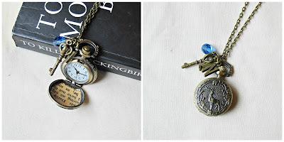 image mr darcy pocket watch necklace jane austen pride and prejudice key deer woodland handmade two cheeky monkeys initials charm boho