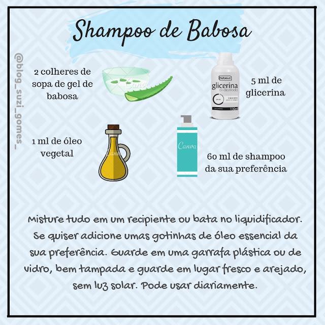 receita shampoo de babosa
