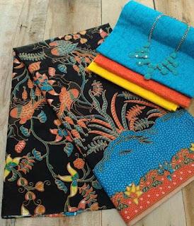 Kain Batik dan Embos 428 Biru