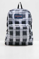 BerryBenka Jansport Women Superbreak Black Arcade Plaid ANDHIMIND