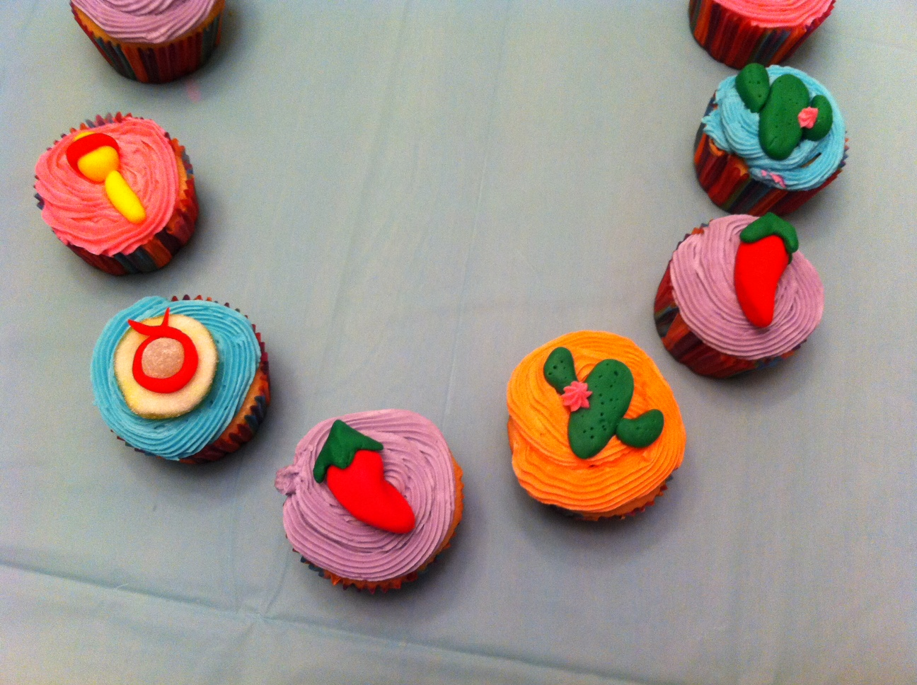 Gingerly Created Confections: 30th Birthday Fiesta Cupcakes