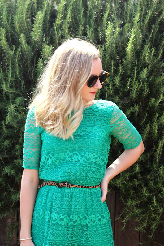 GREEN WITH LACE
