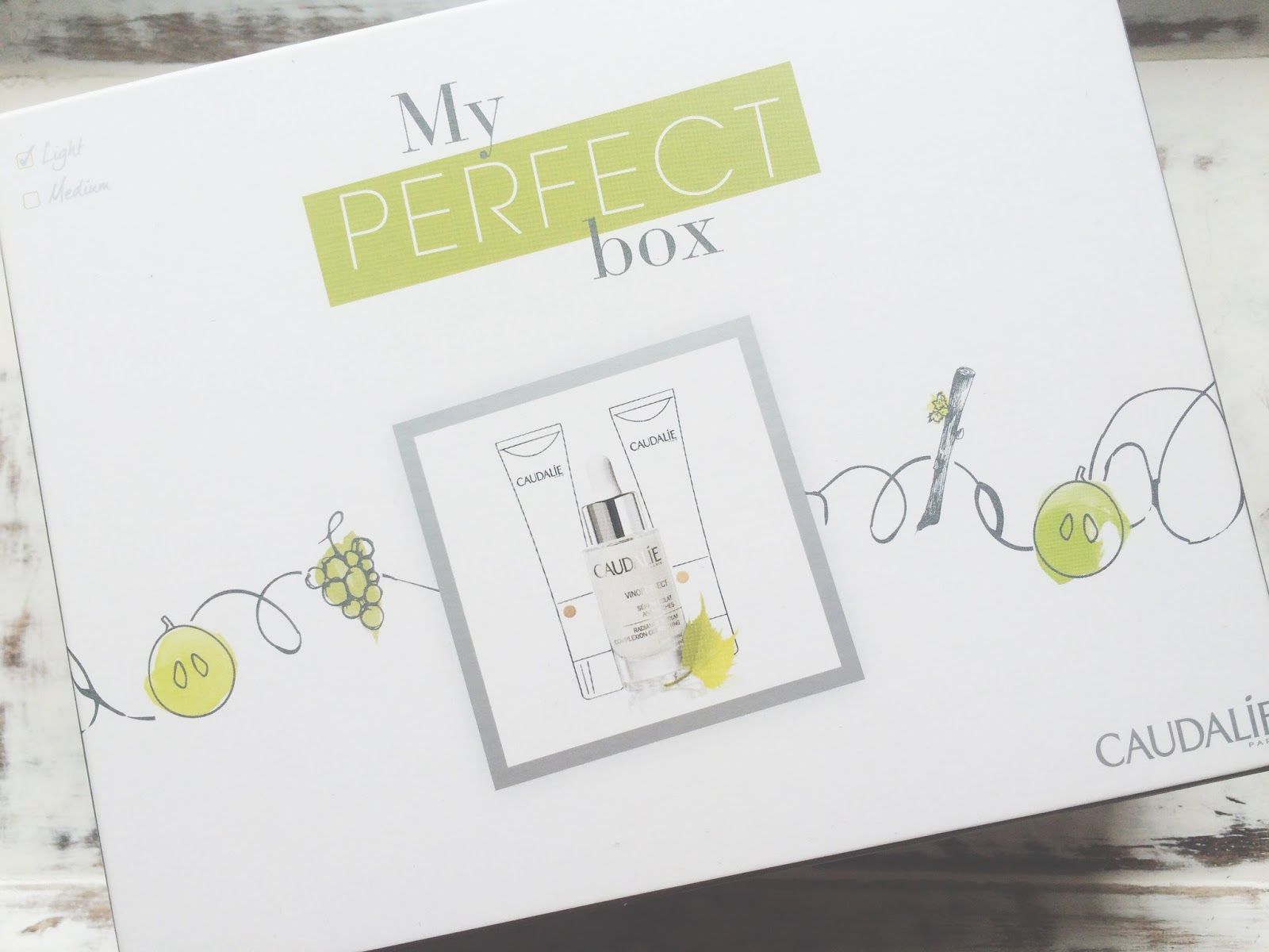 The Caudalie Vinoperfect My Perfect Box